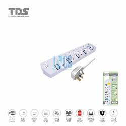 TDS Trailing Socket-4 Way-2 Metre BS+USB