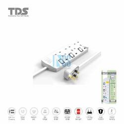 TDS Trailing Socket-3 Way-2 Metre
