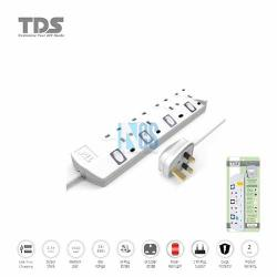 TDS Trailing Socket-4 Way-2 Metre