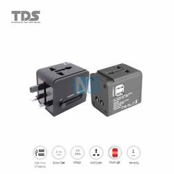 TDS ADAPTER MULTI PLUG TO MULTI SOCKET/DUAL 2A USB