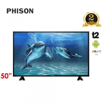 PHISON 50' LED 4K SMART ANDRIOD TV T2 E-SERIES