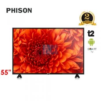 PHISON 55' LED 4K SMART ANDRIOD TV T2 E-SERIES